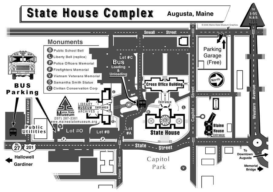 Map of State House Complex - 141 KB