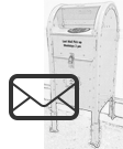 Mailbox with Envelope icon